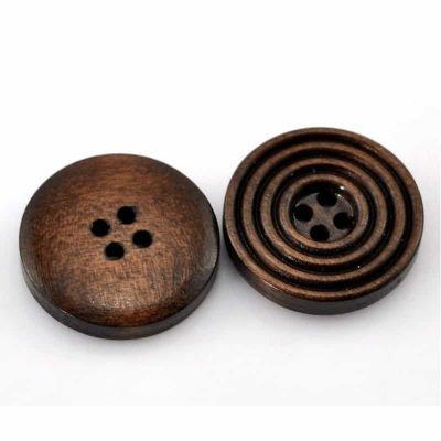 Wooden Circle Button 20mm