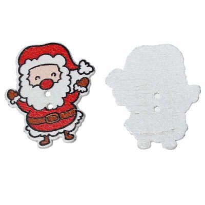 Painted Santa Button 33mm