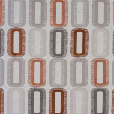 Dahl - Terracotta - Curtain Fabric