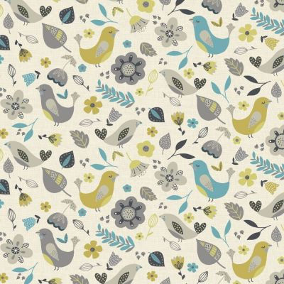 Dalarna - Teal - Curtain Fabric