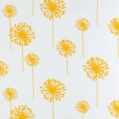 Premier Prints - Yellow Dandelions On Slubbed Cotton