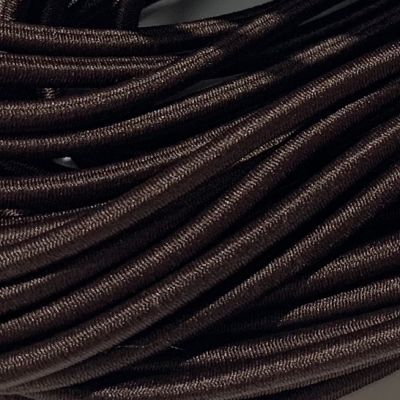 Round Elastic Cord - 3mm Wide - Dark Brown