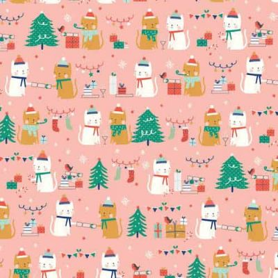 Dashwood Festive Friends Friends Pink Cut Length