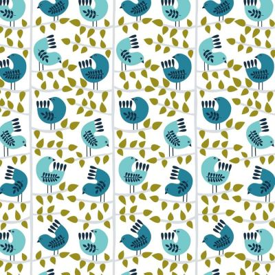 Dashwood Snow Forest Birds On Branches Cut Length