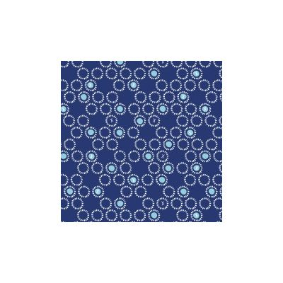 Dashwood Ditsies Circles Navy Cut Length