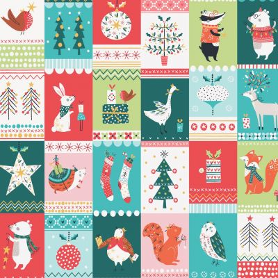 Dashwood Studio - Forest Friends - Festive Blocks With Metallic