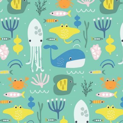 Dashwood Studio - Habitat - Sea Animals Turquoise