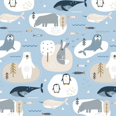 Dashwood Studio - Habitat - Arctic Animals Blue