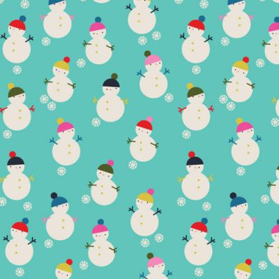 Dashwood Merry And Bright Snowmen Cut Length