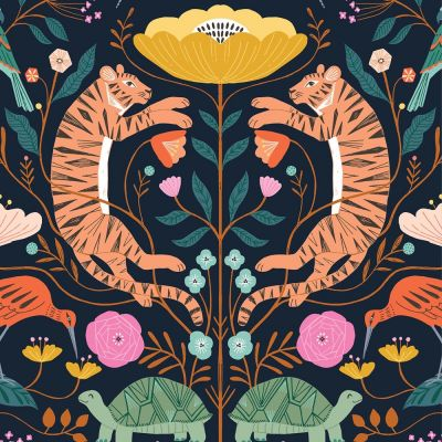 Dashwood Studio - Our Planet - Tigers Navy