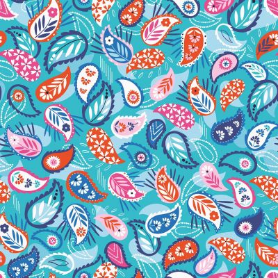 Dashwood Studio - Silk Roads - Paisley Bright Blue