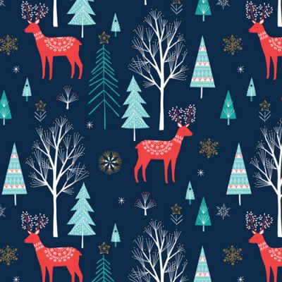 Dashwood Skogen Forest Scene Metallic Cut Length