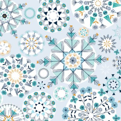 Dashwood Skogen Big Snowflakes Metallic Cut Length