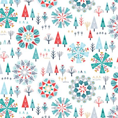 Dashwood Skogen Snowy Forest Metallic Cut Length