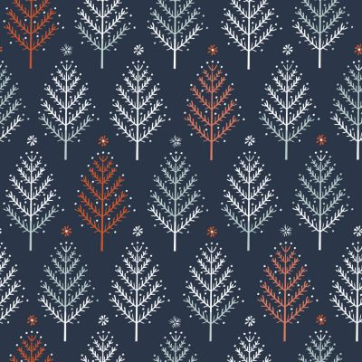 Dashwood Winterfold Trees Coppere Metallic Cut Length