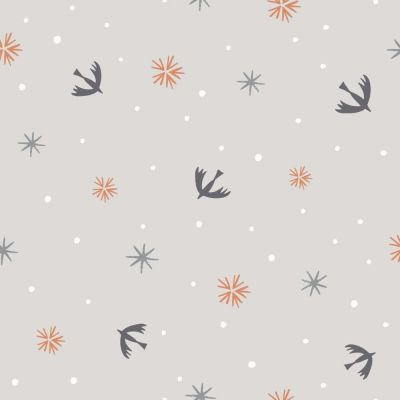 Dashwood Winterfold Swallows And Snowflakes Copper Metallic Cut Length