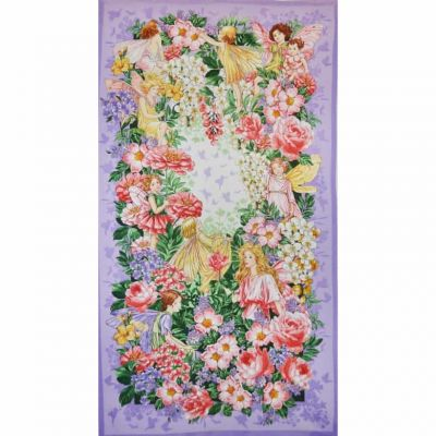 Michael Miller Flower Fairies Fairy Dreamland Panel