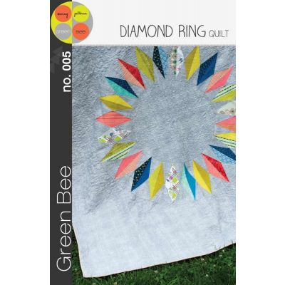 Green Bee Patterns - Diamond Ring Quilt Pattern