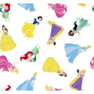 Cotton Poplin Fabric - Disney Princesses