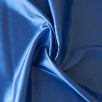 Royal Blue Plain Solid Satin Dressmaking Fabric