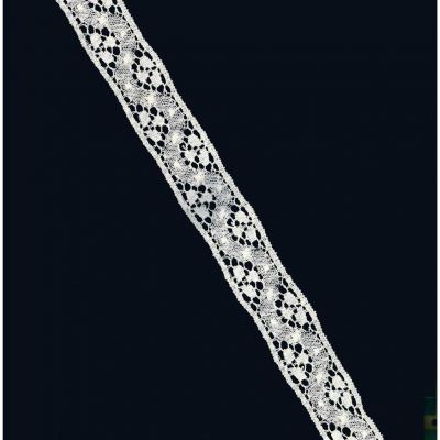 Delicate Cotton Lace Trim 38mm Wide - Ivory