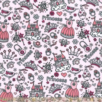 Polycotton - Princess Castle Pink
