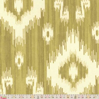 Upholstery / Curtain Fabric - Ikat - Gold