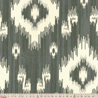 Upholstery / Curtain Fabric - Ikat - Grey