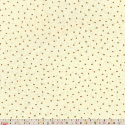 Remnant -  Nutex - Extra Wide Fabric - Spots Beige On Cream - 50 x 280cm