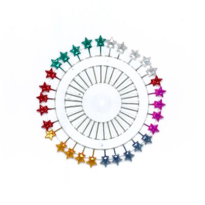 Star Headed Pin Rosette - 30 Long Pins