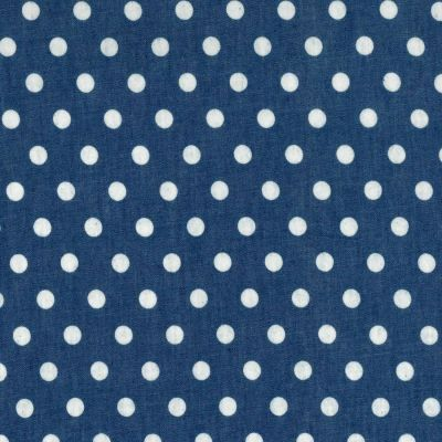100% Cotton Chambray Fabric - Spots