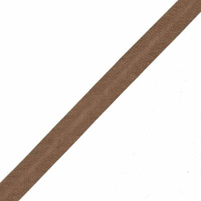 30mm Linen Bias Binding - Brown - Per Metre
