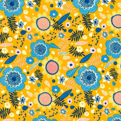 Cotton Voile - Yellow Floral