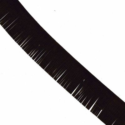 Suede Fringe Trim 50mm Dark Brown