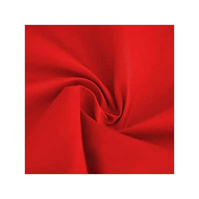 Remnant - Plain Polycotton Red - 195 x 110cm - Mark