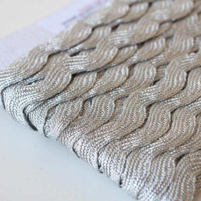 10mm Ric Rac Trim Silver Metallic