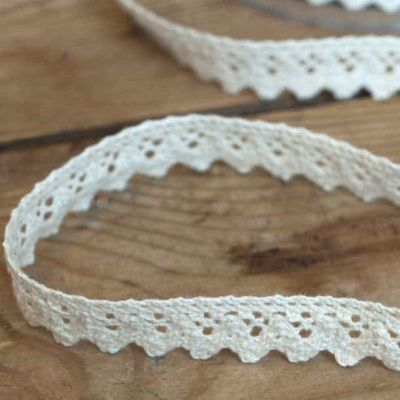 15mm Cotton Lace Trim Natural