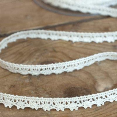 9mm Cotton Lace Trim Natural