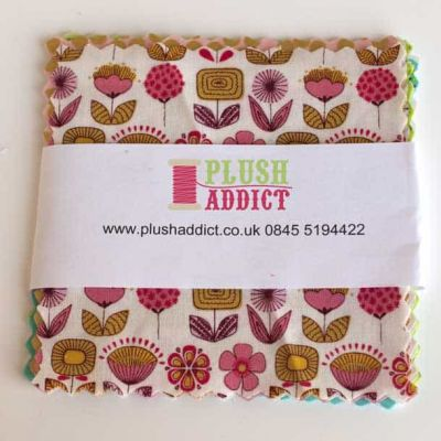 "Charm Pack: Lucky Dip 5"" Cotton Squares / Grown Up, 12 Pieces"
