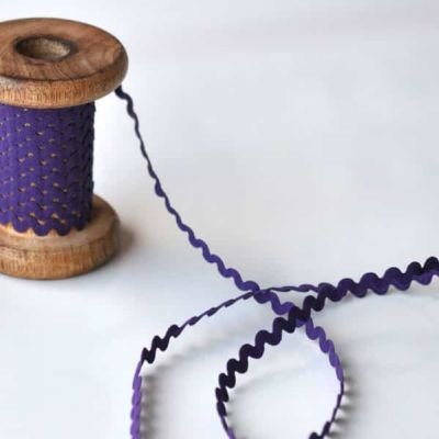 8mm Ric Rac Trim Purple