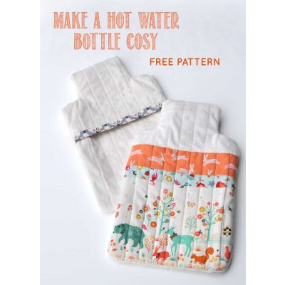 Hot Water Bottle Cover Template: Instant Download