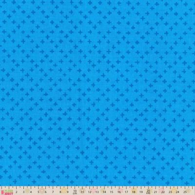 Hello Blossom Cotton Fabric  Fat Quarter Ella Blue Bud Blue