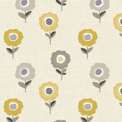 Elsa - Ochre - Curtain Fabric