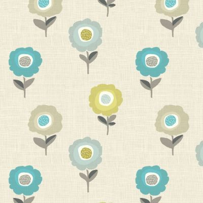 Elsa - Teal - Curtain Fabric