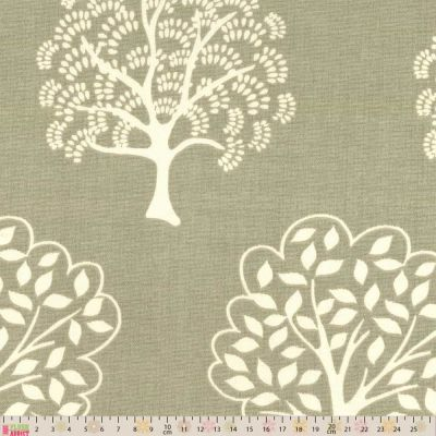 Upholstery / Curtain Fabric - Forest Trees - Linen