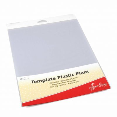 "Template Plastic Plain 11"" x 8"""