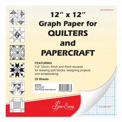 "Sew Easy Quilters Graph Paper 12"" x 12"" - 25 Sheets"