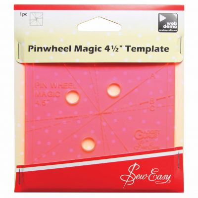 Sew Easy Template - Magic Pinwheel 4.5""