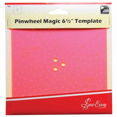 Sew Easy Template - Magic Pinwheel 6.5""