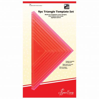 Sew Easy Patchwork 9 Piece Triangle Template Set